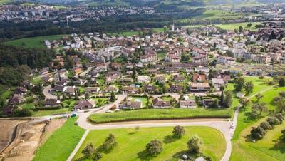 Aus dem Verkauf von fünf Parzellen an der Oberen Vollmoosstrasse erwartet der Gemeinderat für 2020 2,1 Millionen Franken. (Ralph Ribi)