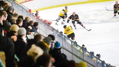Die Zuschauer verfolgen in der Frauenfelder Eishalle die Finalpartie zwischen dem Heimteam und Wetzikon. (Donato Caspari)