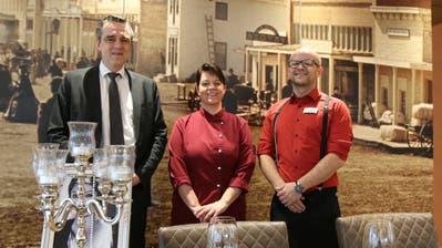 Gastgeber Marc Borer, Gastronomieleiterin Cornelia Oettli und Restaurantionsleiter Fatmos Fazlji (v.l.). (Bild: Hans Suter)