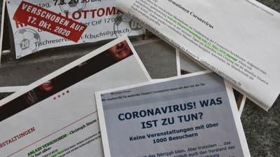 Einige Veranstaltungen sind verschoben, andere finden unter Einhaltung der kantonalen Weisungen statt. (Bild: Thomas Schwizer)