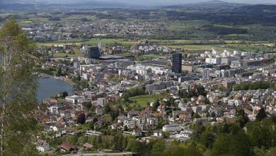 Stadt Zug: Stadtansicht mit -------(Bild: Stefan Kaiser, Zug, 10. Mai 2019) (Stefan Kaiser (zz) / Zuger Zeitung)