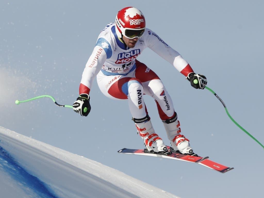Carlo Janka sicherte sich seinen zweiten Abfahrts-Podestplatz in diesem Winter