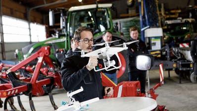 Swiss Future Farm in Tänikon: Drohnen liefern Daten für die Landwirtschaft der Zukunft