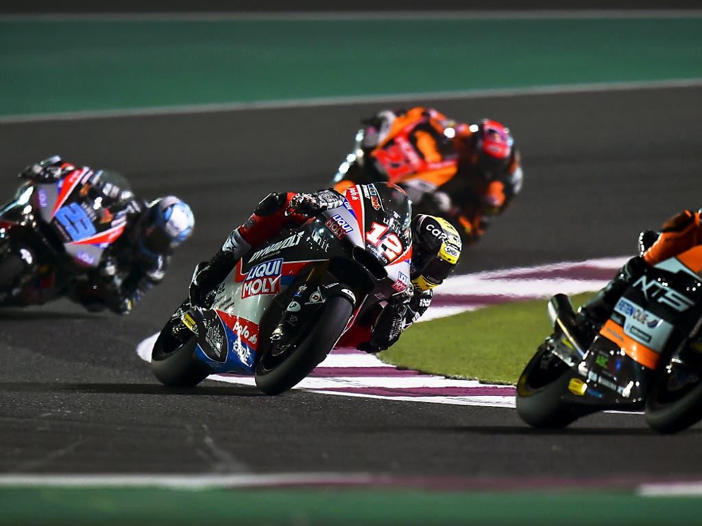 Kampf um Plätze im Mittelfeld statt an der Spitze: Tom Lüthi belegte beim Moto2-Auftakt in Katar nur den 10. Platz
