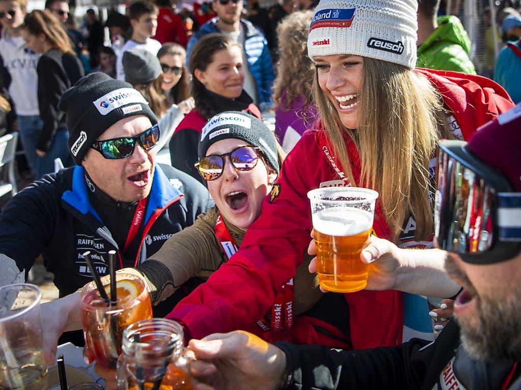 Vor zwei Wochen feierte Corinne Suter in Crans-Montana den Triumph in der Abfahrtswertung