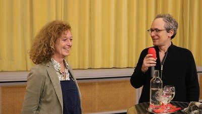Anne-Catherine Lang und Micha Lewinsky beim Talk. (Markus Bösch)