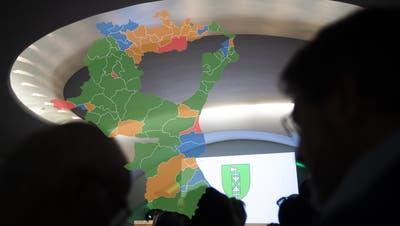 Kampf um die Regierungsratssitze: Wie die 77 St.Galler Gemeinden gewählt haben