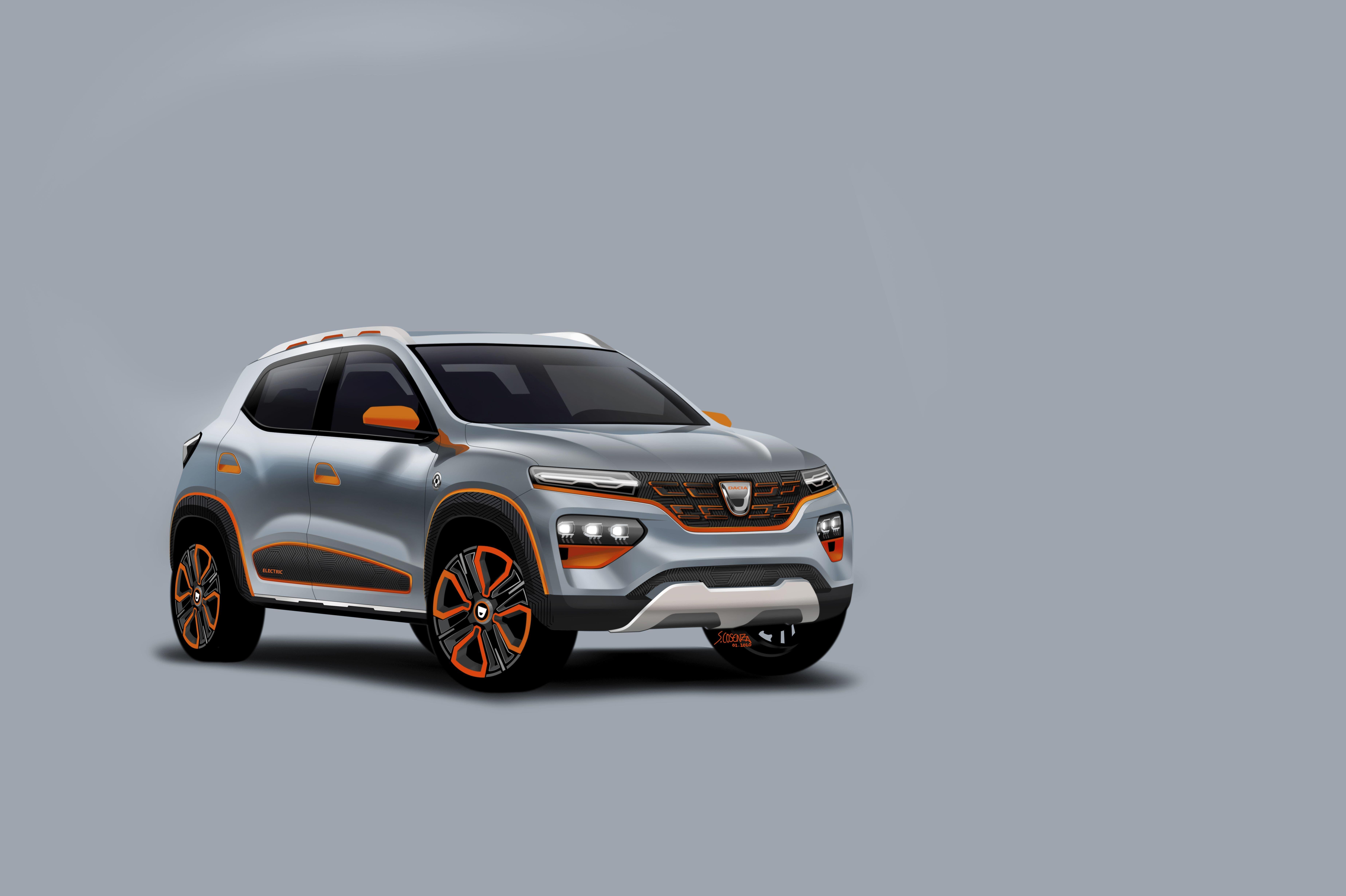 """Dacia stellt mit dem Showcar """"Spring Electric"""" einen Ausblick auf das erste Elektroauto der Marke vor. Der """"Spring Eelectric"""" ist als Crossover-SUV konzipiert und erinnert äusserlich an den Duster."""