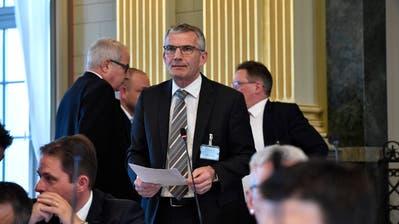 Andreas Widmer (CVP) während einer Session des St.Galler Kantonsrats (Bild: Regina Kühne)