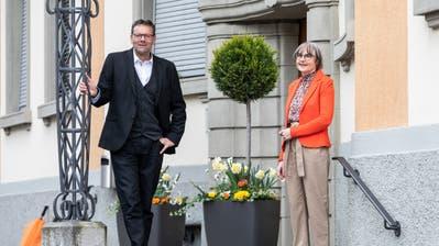 Daniel Rüttimann und Lea Bischof-Meier wurden wieder gewählt. (Bild: Patrick Hürlimann, Hochdorf, 29. März 2020)