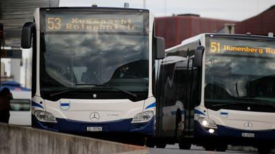 Rotkreuz, ZVB: Busse der ZVB am Bahnhof Rotkreuz.-------(Bild: Stefan Kaiser, Zug, 30. Januar 2020) (Stefan Kaiser (zz) / Zuger Zeitung)