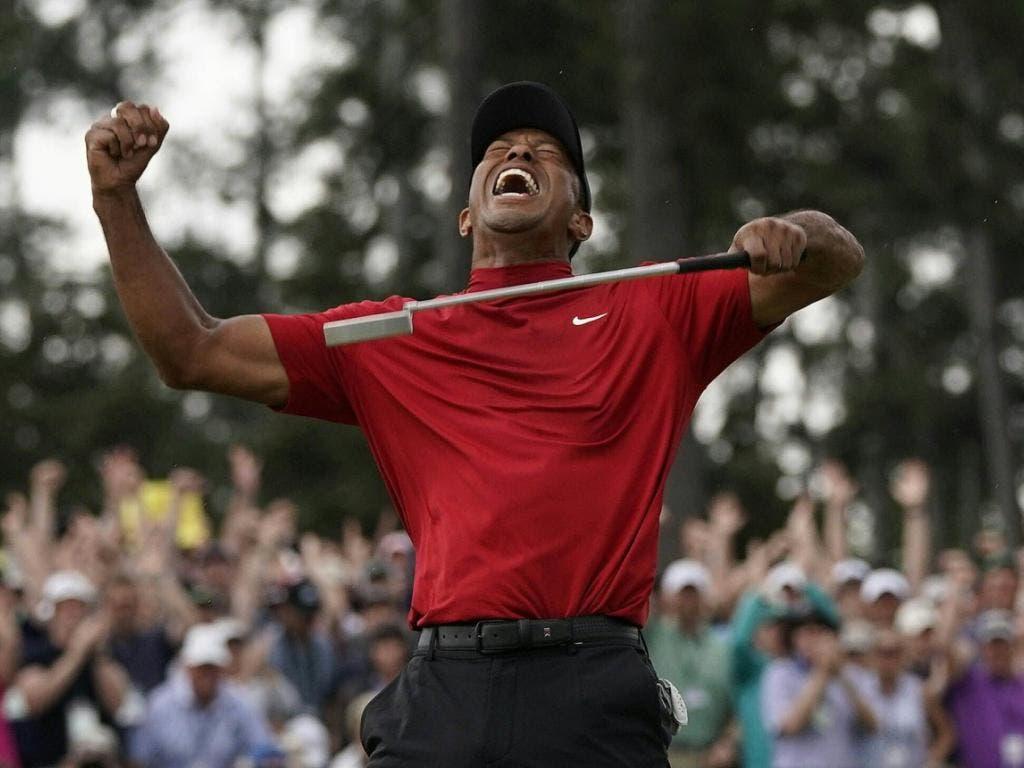 Das packende Bild von Tiger Woods' bislang letztem grossem Sieg: im April 2019 am US Masters in Augusta