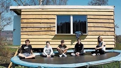 Ein Ort für die Zeit nach Corona: Junge Diessenhofer haben selber Hand angelegt für einen privaten Jugendtreff