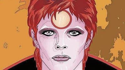 Kunstfigur David Bowie: Michael Allred lässt den 2016 verstorbenen Sänger aufleben. (Bild: avant-verlag)