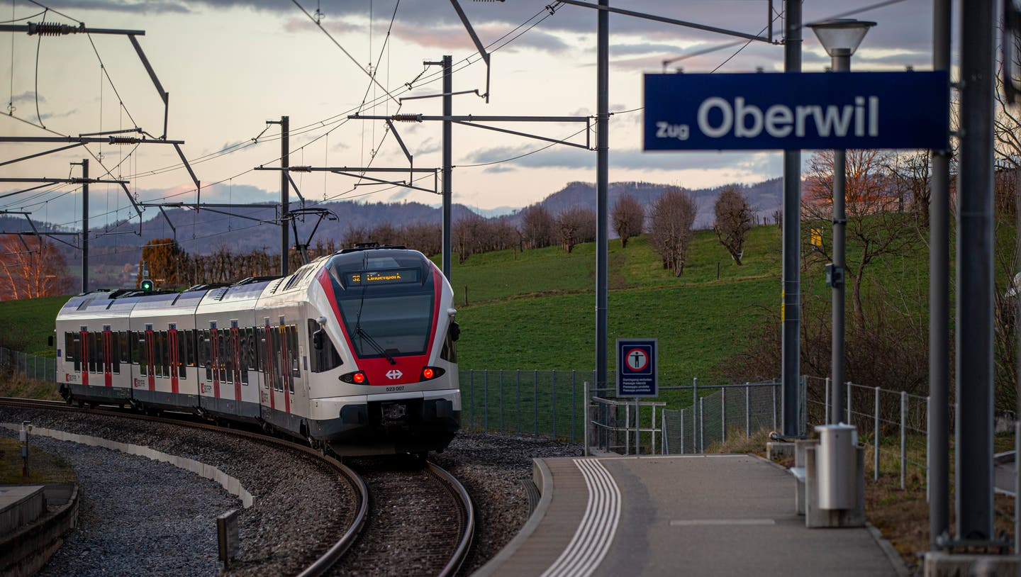 The extension of the Zugerbergbahn to the Oberwil tram stop (picture) is unlikely to be feasible. (Image: Stefan Kaiser (February 18, 2020))