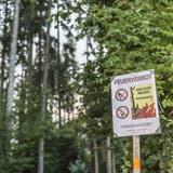Erhebliche Waldbrandgefahr im Kanton Zug