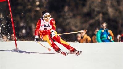 Maria Walliser in Crans Montana 1987: Ein echtes, aber 33 Jahre altes Bild. (Bild: Keystone)