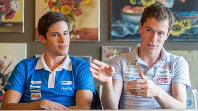 Martin Hubmann (links) und sein älterer Bruder Daniel warten sehnsüchtig darauf, bis die Wettkampfsaison losgeht. (Michel Canonica (23. Oktober 2015))