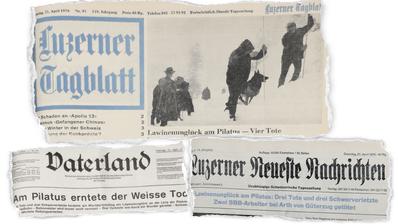Ausschnitte aus den Zeitungen von 1970. (Grafik: Janina Noser)