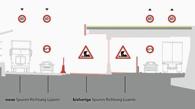 Die beiden neuen Spuren auf der A2 (links).