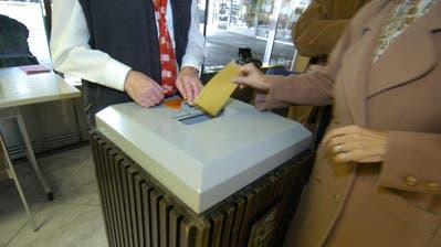 Ist aufgrund der Coronapandemie am 19. April für den zweiten Wahlgang in die Kantonsregierung nicht geöffnet: die Wahlurne im Foyer des St.Galler Rathauses. (Bild: Hannes Thalmann)