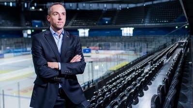 EVZ-CEO Patrick Lengwiler nimmt die Spieler in die Pflicht. (Bild: Boris Bürgisser (Zug, 3. September 2019))