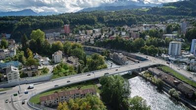 So könnte die Reussportbrücke aussehen. (Visualisierung: PD)