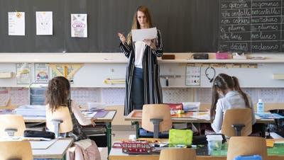 Ab 11. Mai soll an der Volksschule wieder Präsenzunterricht stattfinden. (Laurent Gillieron /key)