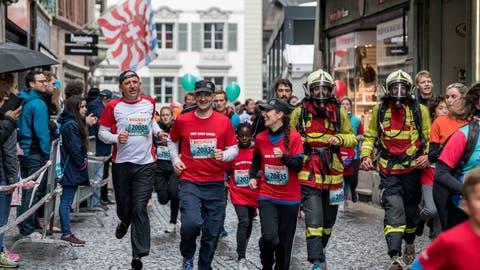 Distanz halten: Nicht wegen der Bestzeit, sondern wegen Corona. (Bild: Nadia Schärli (Luzern, 5. Mai 2019))