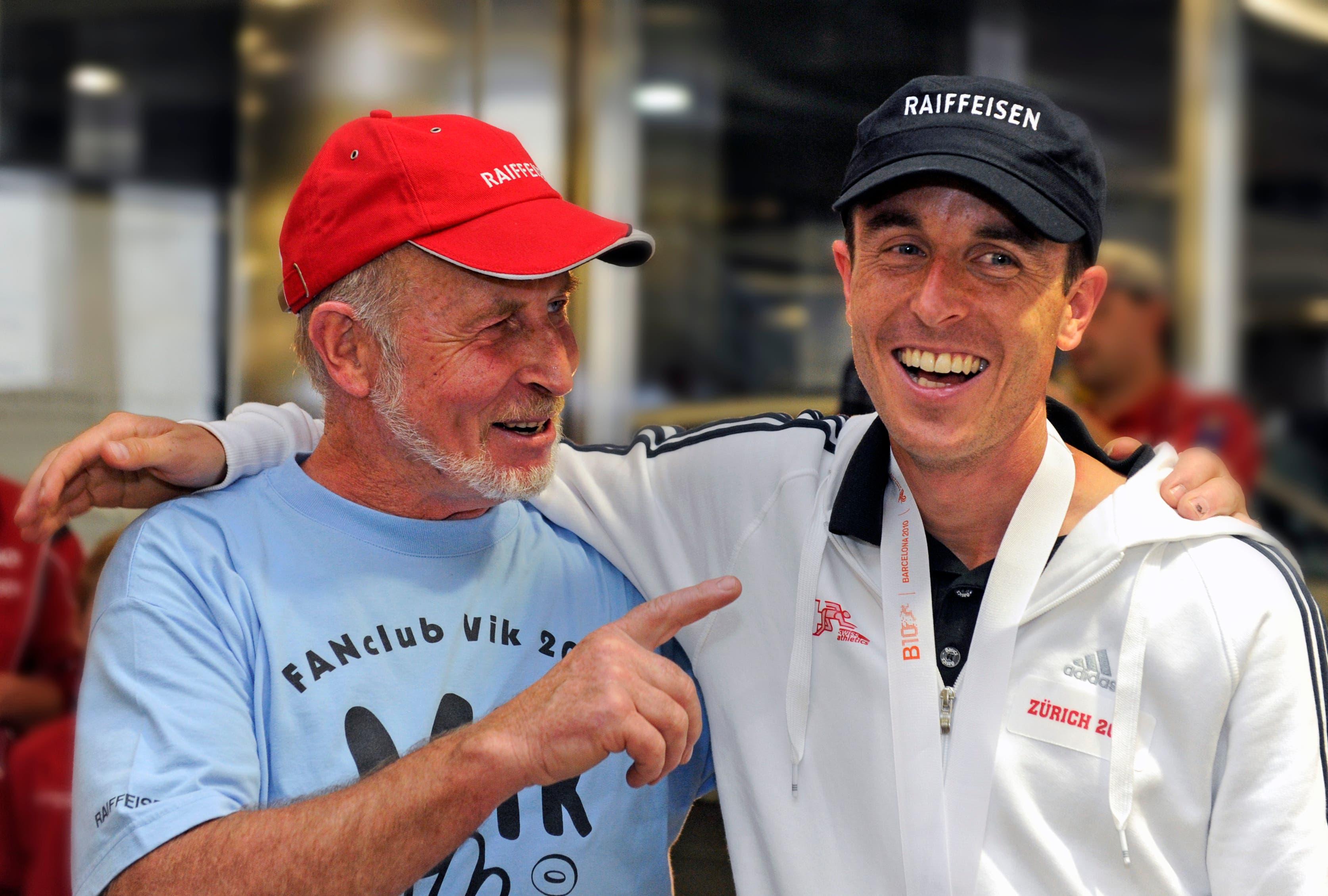 Viktor Röthlin mit seinem Vater