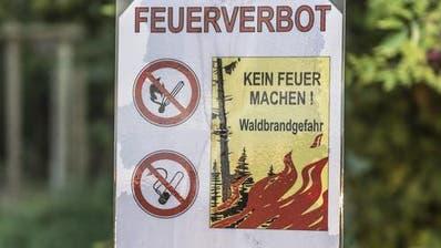 Im Kanton Zug gilt ab sofort ein absolutes Feuerverbot