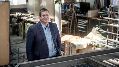 Peter With, Präsident Gewerbeverband, in seinem Betrieb. (Bild: Nadia Schärli (Luzern, 22. April 2020))