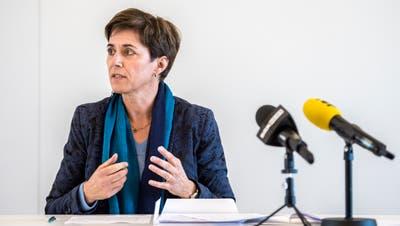 Die Thurgauer Bildungsdirektorin Monika Knill bei einer Medienkonferenz im März. (Bild: Reto Martin)