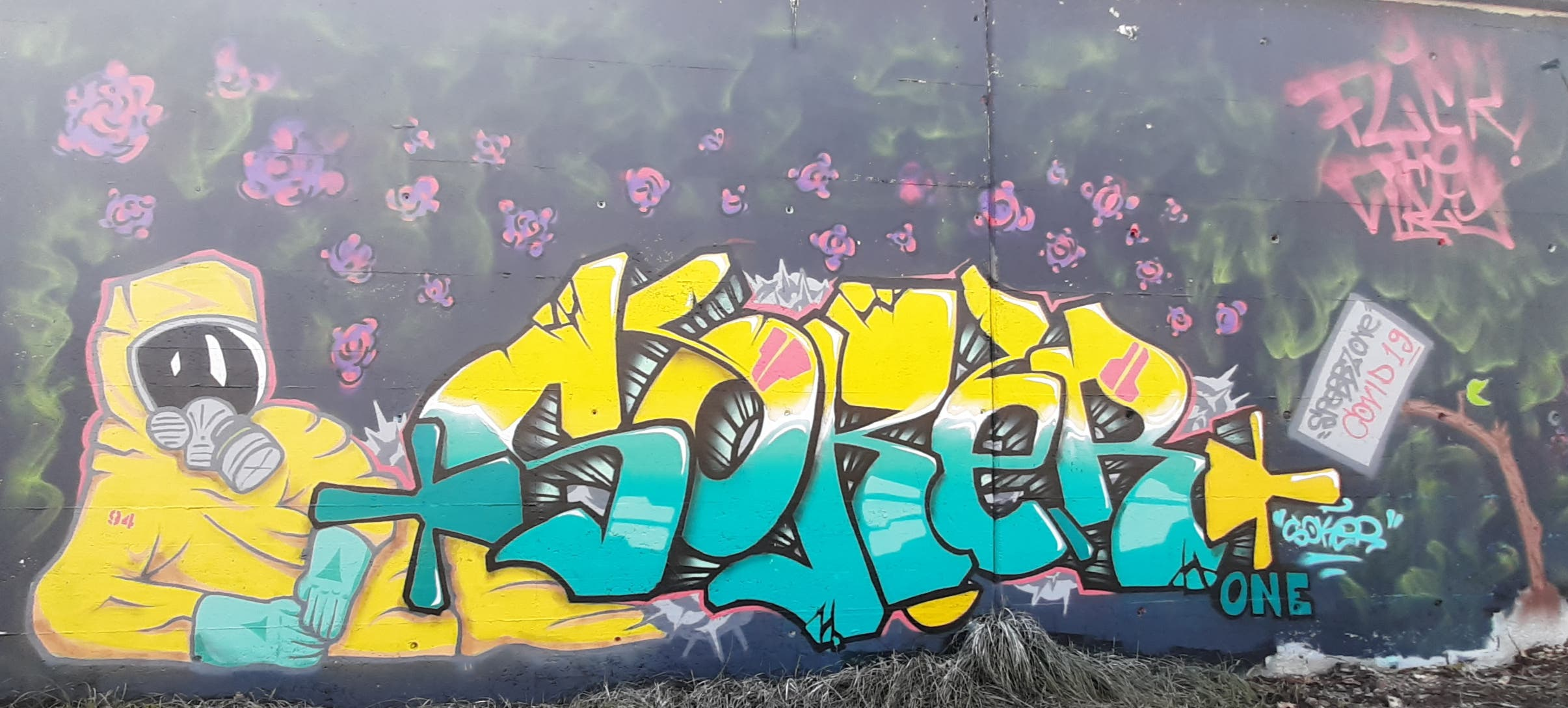 Ein Graffiti.