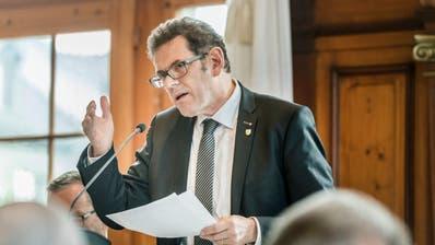 Regierungsrat Jakob Stark an einer Sitzung des Grossen Rates. (Bild: Andrea Stalder)