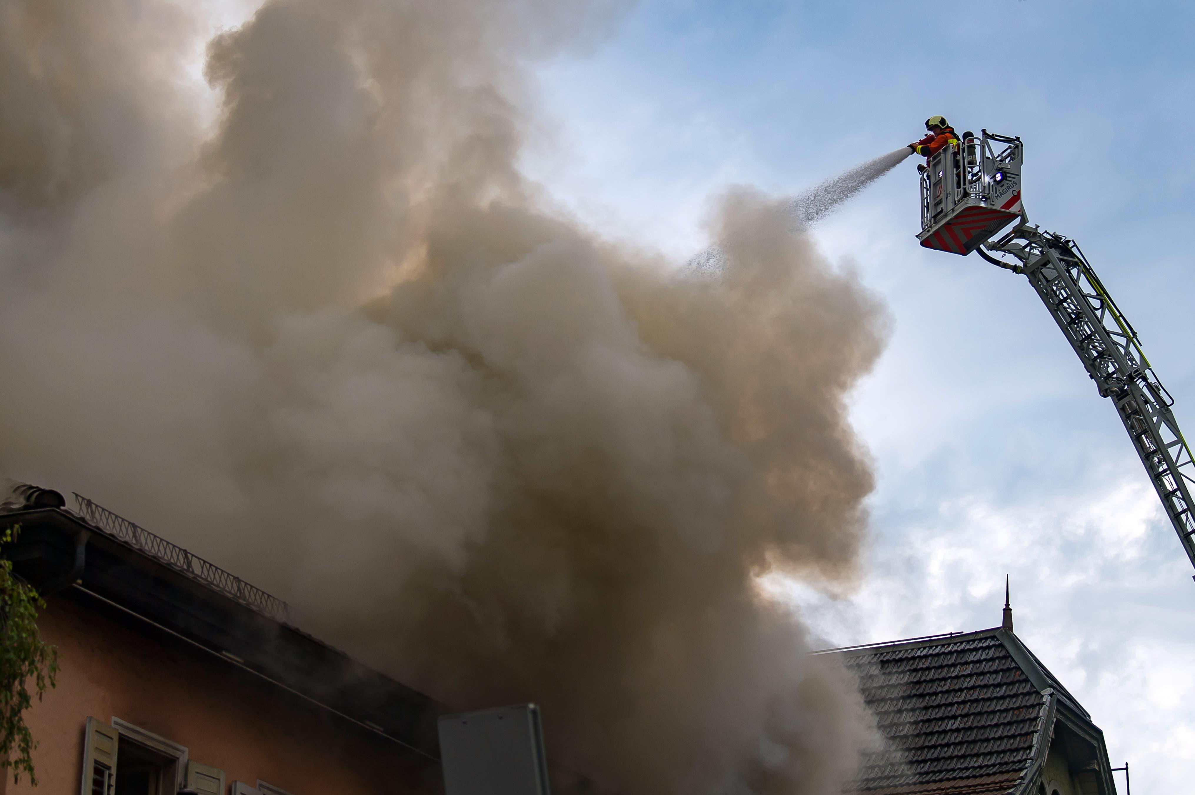 Brand an der Burgstrasse.