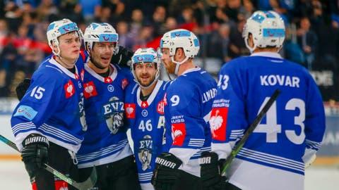 Die Spieler des EVZ werden erst im Oktober wieder das Dress der Champions Hockey League tragen. (Bild: Marc Schumacher / Freshfocus (Zug, 10. Dezember 2019))