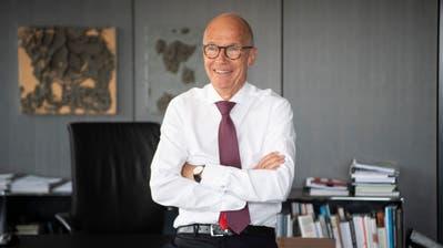 Stadtpräsident Thomas Scheitlin am Dienstagnachmittag in seinem Büro zuoberst im St.Galler Rathaus. (Bild: Ralph Ribi)