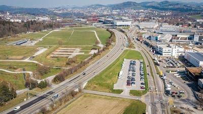 Auf dem St.Galler Breitfeld würde 2025 eine Schwingerarena aufgebaut, die mit 54'000 Plätzen dreimal mehr Zuschauer fasste als der Kybunpark. (Bild: Urs Bucher (2. April 2020))