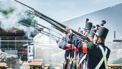 Ein Bild des Festakts vom eidgenössischen Jugendschützenfestvom vergangenen Jahr. (Andrea Stalder)