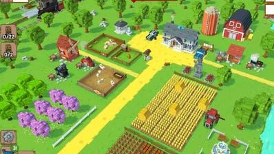 Mehr Bäume, mehr Felder, mehr von allem: Bauernhof-Spiele wie «Blocky Farm» bringen Kindern den Kapitalismus näher. (Bild: Screenshot)