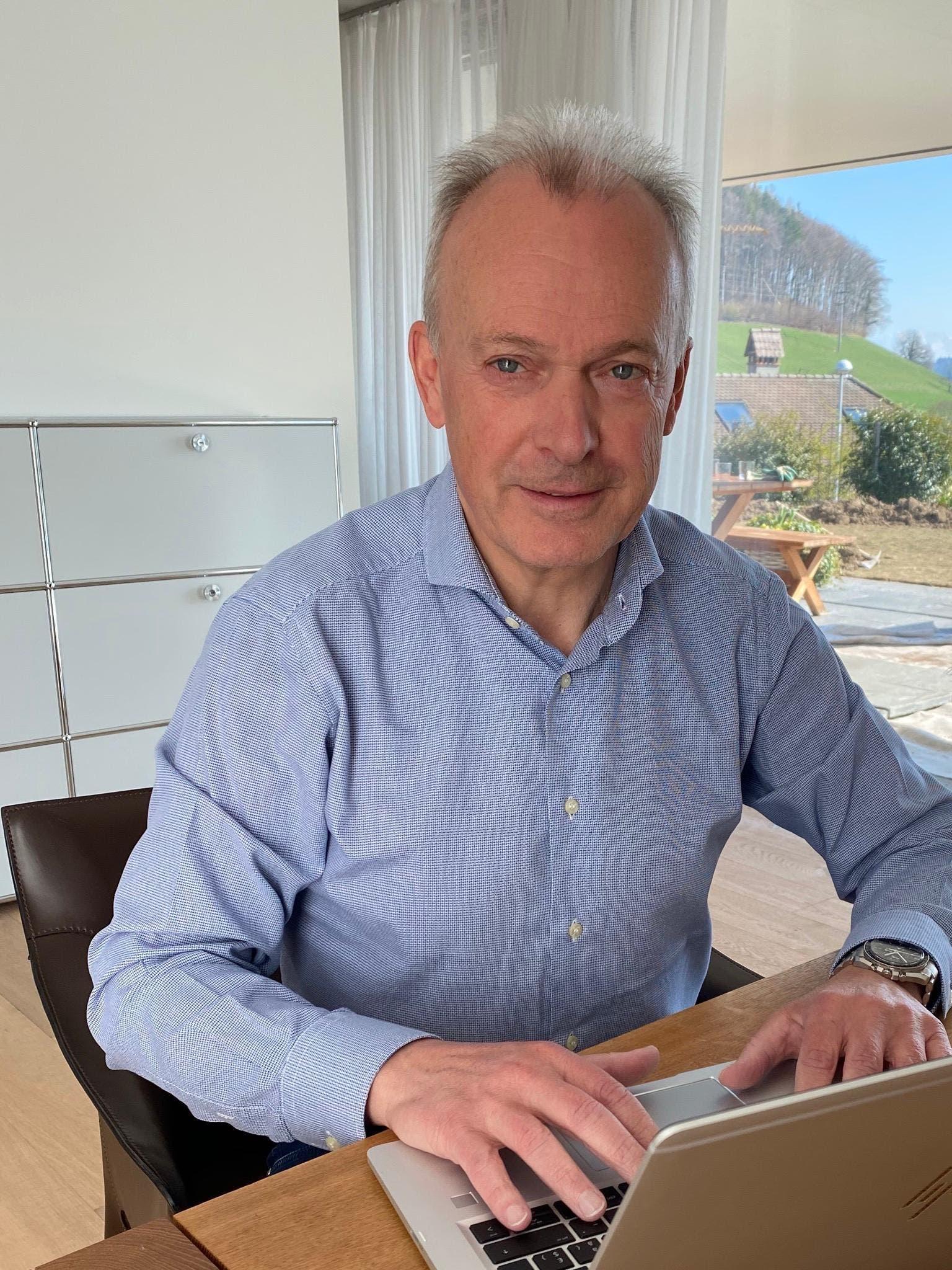 Urs Schaeppi, 60, CEO Swisscom: «Ich arbeite momentan einen grossen Teil meiner Arbeitszeit im Homeoffice.»