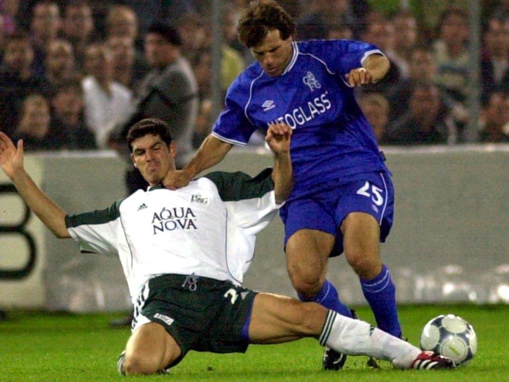 Ivan Dal Santo stoppt Gianfranco Zola