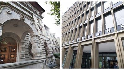 Die Stadthäuser in Luzern (links) und Kriens. (Bilder: Pius Amrein und Urs Flüeler / Keystone)