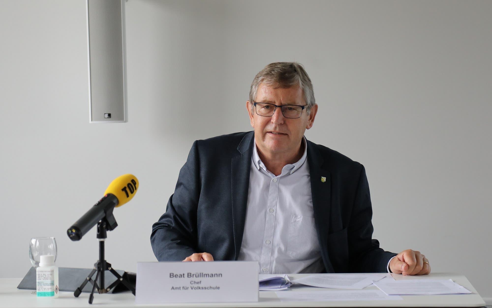Informierte heute über die Öffnung der Schulen im Thurgau: Beat Brüllmann, Chef des Amts für Volksschule.