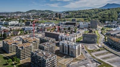 Vor allem im Gebiet Luzern Süd, im Vordergrund das Areal Schweighof, gibt es in Kriens noch viel Bauland. (Bild: Pius Amrein  (Donnerstag, 25. April 2019))