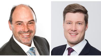 Joe Schnider (SVP, links) fordert den parteilosen Andreas Böhm heraus. (Bilder: PD)