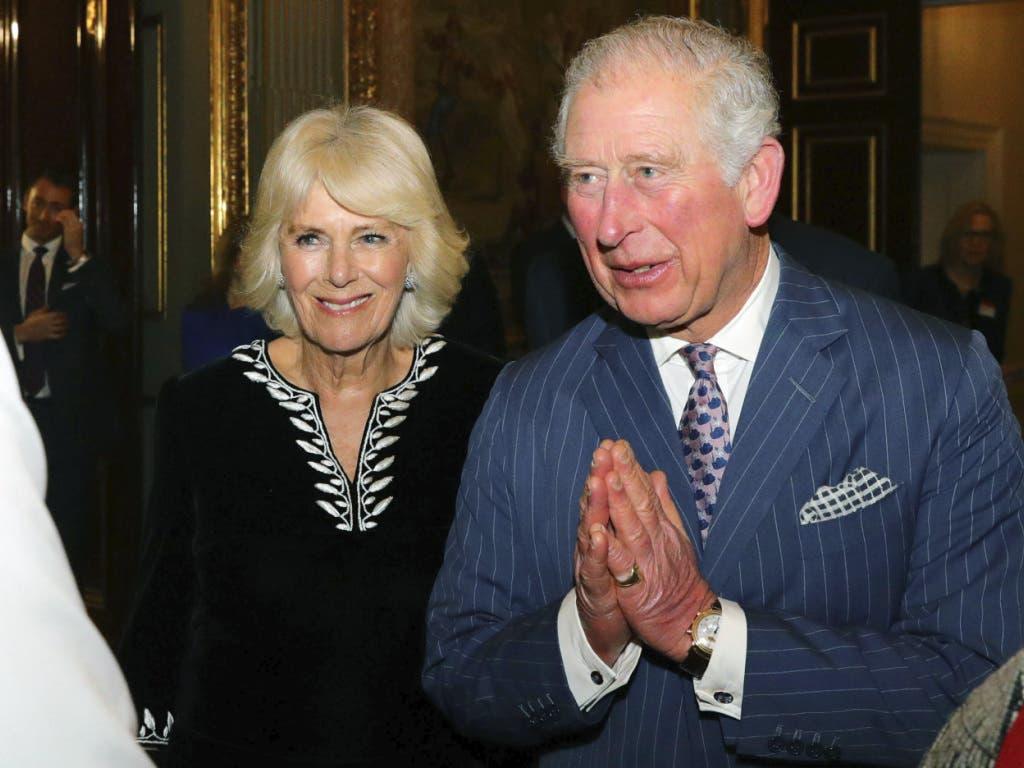 Prinz Charles und Camilla vor dem jährlichen Emfang zum Commonwealth Day im Marlborough House in London.