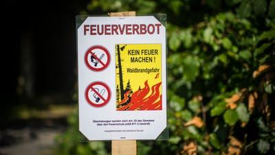 In einzelnen Gemeinden des Kanton St.Gallen besteht absolutes Feuerverbot im Wald und in Waldesnähe. (Bild: Benjamin Manser (24. Juli 2018))