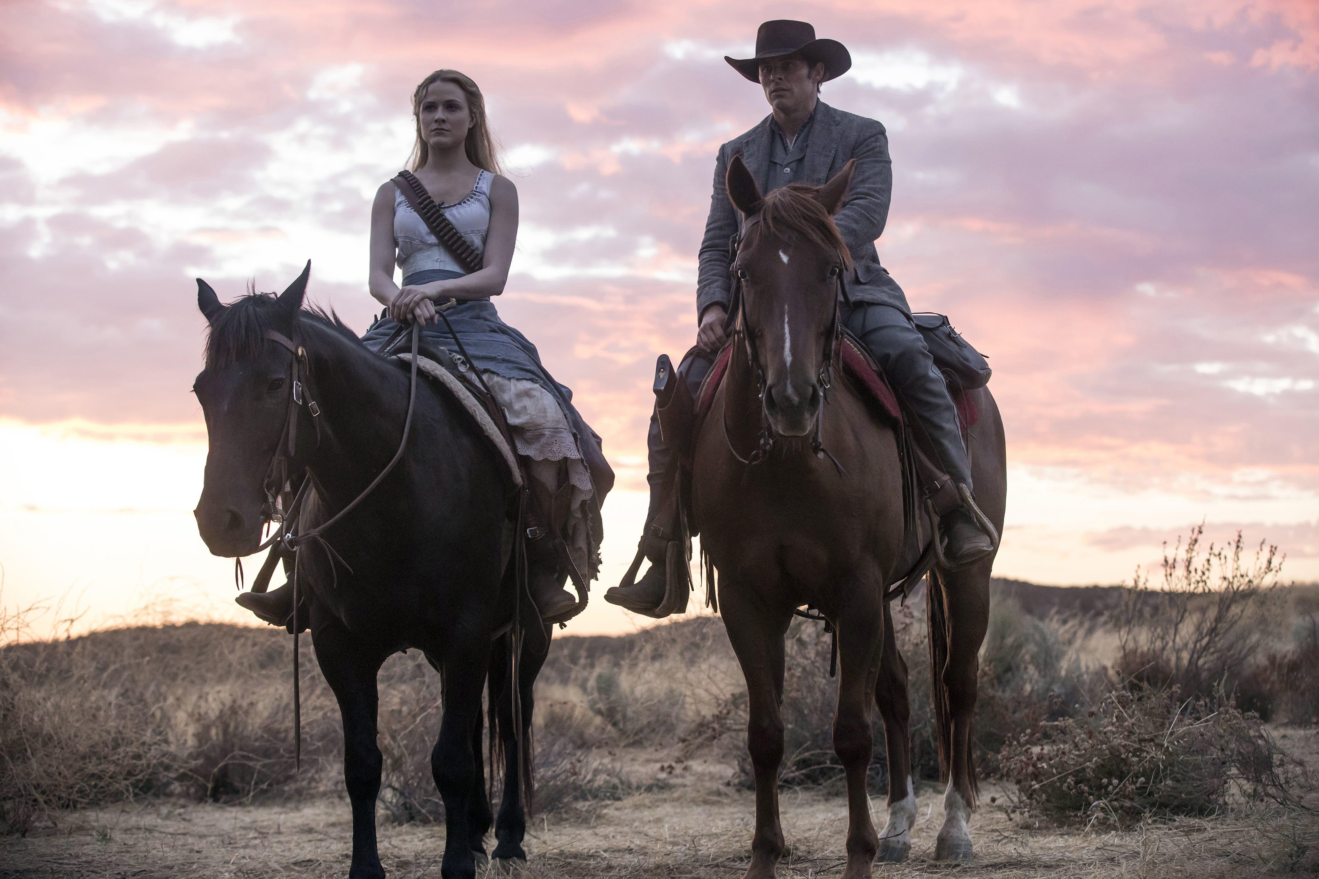 NEU: Westworld (2016–) Durchgestylte, inhaltlich beängstigende Wild-West-Science-Fiction um ultimativen Eskapismus und künstliches Bewusstsein. Jede Woche eine neue Folge der 3. Staffel auf Sky Show.
